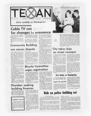 Primary view of object titled 'The Bellaire & Southwestern Texan (Bellaire, Tex.), Vol. 19, No. 34, Ed. 1 Wednesday, November 22, 1972'.