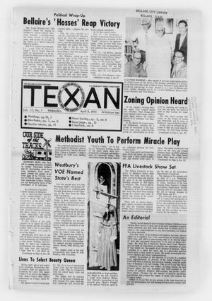 Primary view of object titled 'The Bellaire & Southwestern Texan (Bellaire, Tex.), Vol. 17, No. 7, Ed. 1 Wednesday, April 8, 1970'.