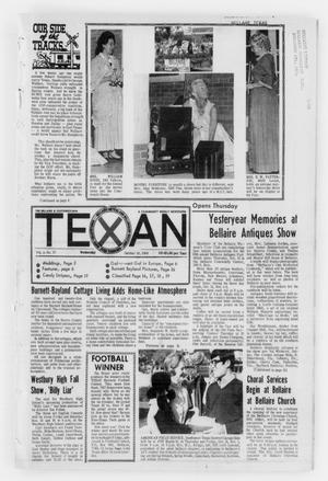 Primary view of object titled 'The Bellaire & Southwestern Texan (Bellaire, Tex.), Vol. 15, No. 37, Ed. 1 Wednesday, October 30, 1968'.