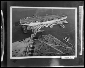 Primary view of object titled 'Aerial View of Aircraft Carrier'.