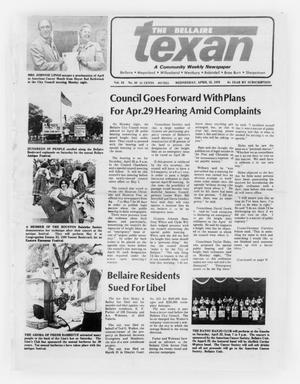 Primary view of object titled 'The Bellaire Texan (Bellaire, Tex.), Vol. 24, No. 50, Ed. 1 Wednesday, April 19, 1978'.