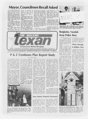 Primary view of object titled 'The Bellaire Texan (Bellaire, Tex.), Vol. 25, No. 28, Ed. 1 Wednesday, March 30, 1977'.