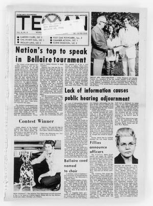 Primary view of object titled 'The Bellaire & Southwestern Texan (Bellaire, Tex.), Vol. 18, No. 31, Ed. 1 Wednesday, October 13, 1971'.