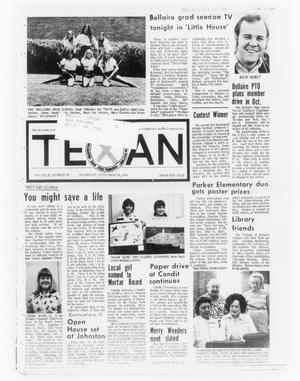 Primary view of object titled 'The Bellaire & Southwestern Texan (Bellaire, Tex.), Vol. 21, No. 25, Ed. 1 Wednesday, September 25, 1974'.