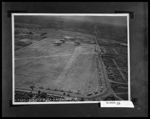 Primary view of object titled 'Aerial View of Airships and Field'.