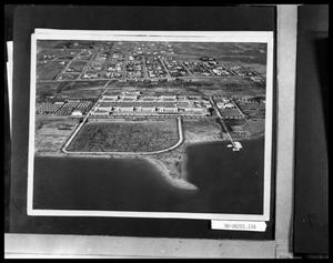 Primary view of object titled 'Aerial View of Base and Shoreline'.
