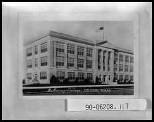 Primary view of object titled 'Administration Building at McMurry College'.