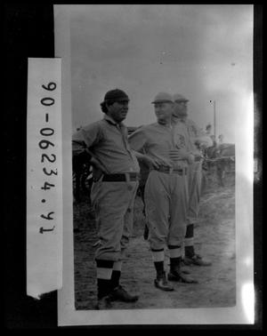 Primary view of object titled 'Three Men in Baseball Uniforms'.