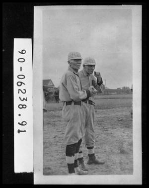 Primary view of object titled 'Two Men in Baseball Uniforms'.