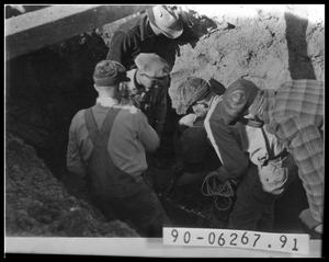 Primary view of object titled 'Workers in Hole'.