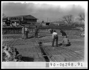 Primary view of object titled 'Workers Laying Cement'.