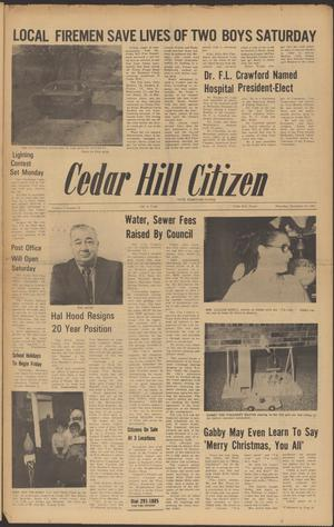 Primary view of object titled 'Cedar Hill Citizen (Cedar Hill, Tex.), Vol. 1, No. 15, Ed. 1 Thursday, December 16, 1971'.