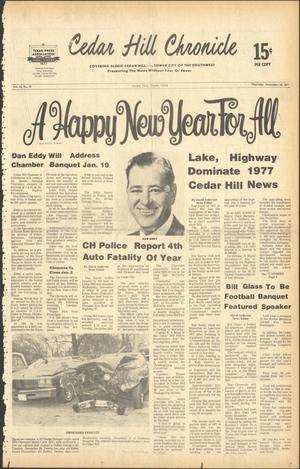 Primary view of object titled 'Cedar Hill Chronicle (Cedar Hill, Tex.), Vol. 14, No. 19, Ed. 1 Thursday, December 29, 1977'.