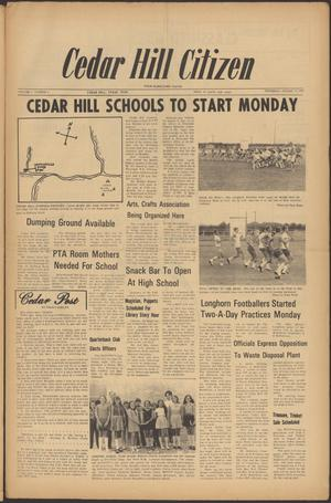 Primary view of object titled 'Cedar Hill Citizen (Cedar Hill, Tex.), Vol. 1, No. 6, Ed. 1 Thursday, August 17, 1972'.