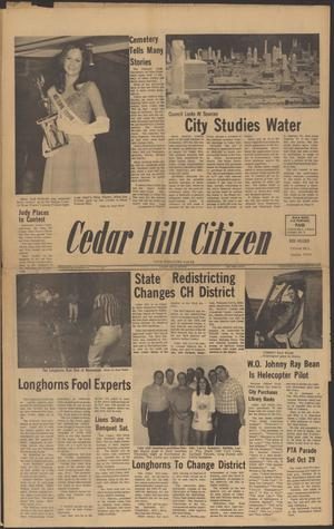 Primary view of object titled 'Cedar Hill Citizen (Cedar Hill, Tex.), Vol. 1, No. 7, Ed. 1 Wednesday, October 20, 1971'.
