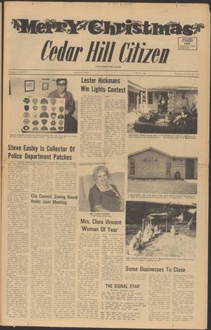 Primary view of object titled 'Cedar Hill Citizen (Cedar Hill, Tex.), Vol. 1, No. 16, Ed. 1 Thursday, December 23, 1971'.
