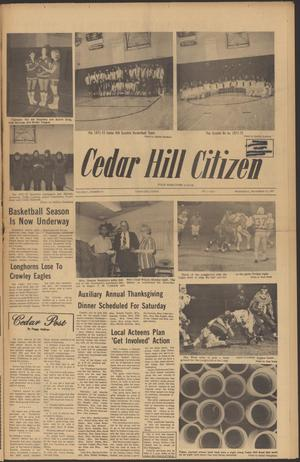Primary view of object titled 'Cedar Hill Citizen (Cedar Hill, Tex.), Vol. 1, No. 11, Ed. 1 Wednesday, November 17, 1971'.
