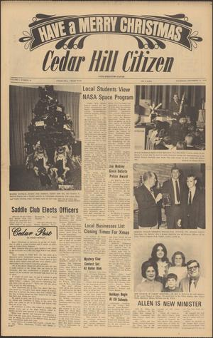 Primary view of object titled 'Cedar Hill Citizen (Cedar Hill, Tex.), Vol. 1, No. 24, Ed. 1 Thursday, December 21, 1972'.