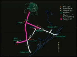 [Map of Galveston and Surrounding Areas]
