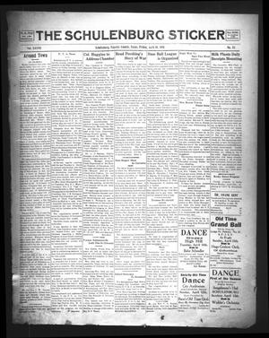 Primary view of object titled 'The Schulenburg Sticker (Schulenburg, Tex.), Vol. 37, No. 32, Ed. 1 Friday, April 10, 1931'.