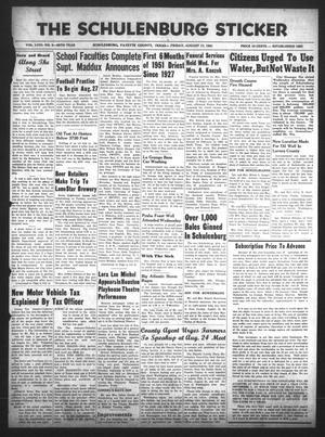 The Schulenburg Sticker (Schulenburg, Tex.), Vol. 58, No. 2, Ed. 1 Friday, August 17, 1951