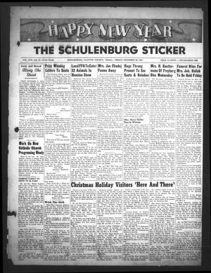 The Schulenburg Sticker (Schulenburg, Tex.), Vol. 58, No. 21, Ed. 1 Friday, December 28, 1951