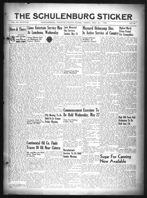 The Schulenburg Sticker (Schulenburg, Tex.), Vol. 48, No. 40, Ed. 1 Friday, May 22, 1942