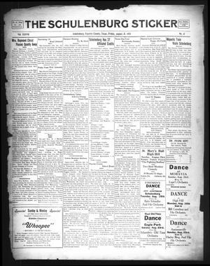 The Schulenburg Sticker (Schulenburg, Tex.), Vol. 37, No. 41, Ed. 1 Friday, August 21, 1931