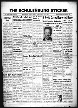 The Schulenburg Sticker (Schulenburg, Tex.), Vol. 58, No. 48, Ed. 1 Friday, July 3, 1953