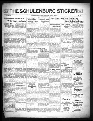 The Schulenburg Sticker (Schulenburg, Tex.), Vol. 37, No. 51, Ed. 1 Friday, October 30, 1931