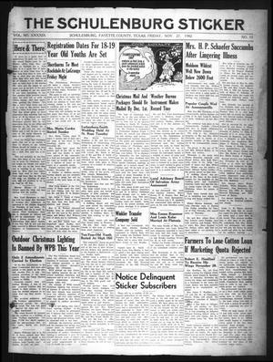 The Schulenburg Sticker (Schulenburg, Tex.), Vol. 49, No. 15, Ed. 1 Friday, November 27, 1942