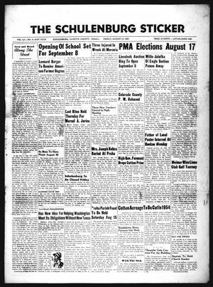 The Schulenburg Sticker (Schulenburg, Tex.), Vol. 61, No. 2, Ed. 1 Friday, August 14, 1953