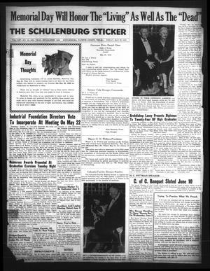 Primary view of The Schulenburg Sticker (Schulenburg, Tex.), Vol. 65, No. 44, Ed. 1 Friday, May 29, 1959