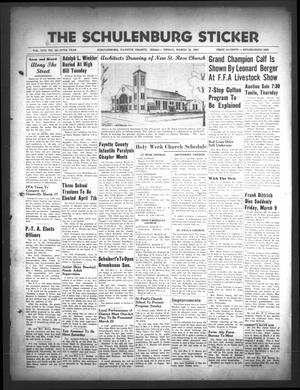 Primary view of The Schulenburg Sticker (Schulenburg, Tex.), Vol. 57, No. 32, Ed. 1 Friday, March 16, 1951