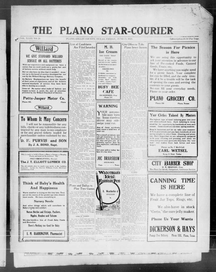 The Plano Star-Courier (Plano, Tex ), Vol  43, No  20, Ed  1