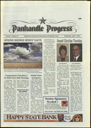 Primary view of object titled 'Panhandle Progress (Panhandle, Tex.), Vol. 1, No. 30, Ed. 1 Wednesday, April 7, 2010'.
