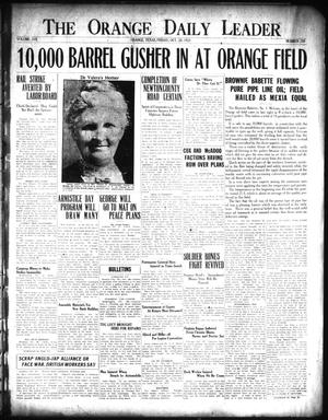 Primary view of object titled 'The Orange Daily Leader (Orange, Tex.), Vol. 17, No. 258, Ed. 1 Friday, October 28, 1921'.