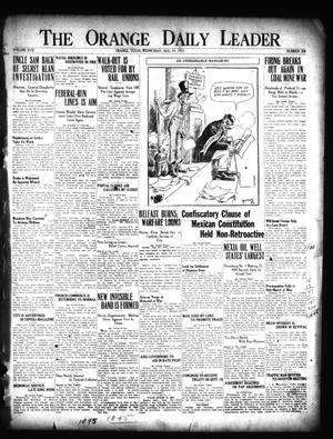 Primary view of object titled 'The Orange Daily Leader (Orange, Tex.), Vol. 17, No. 208, Ed. 1 Wednesday, August 31, 1921'.