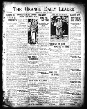 Primary view of object titled 'The Orange Daily Leader (Orange, Tex.), Vol. 17, No. 183, Ed. 1 Tuesday, August 2, 1921'.