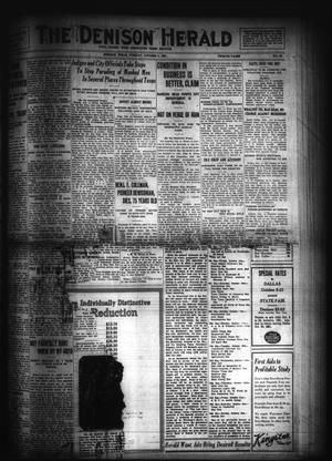 Primary view of object titled 'The Denison Herald (Denison, Tex.), No. 59, Ed. 1 Tuesday, October 4, 1921'.