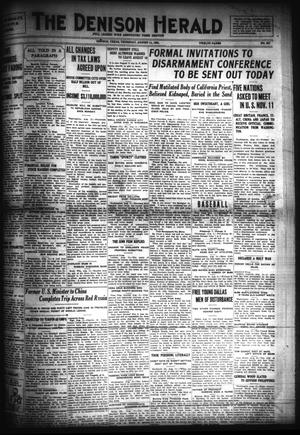Primary view of object titled 'The Denison Herald (Denison, Tex.), No. 327, Ed. 1 Thursday, August 11, 1921'.