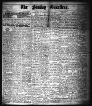 Primary view of object titled 'The Sunday Gazetteer. (Denison, Tex.), Vol. 1, No. 36, Ed. 1 Sunday, December 30, 1883'.