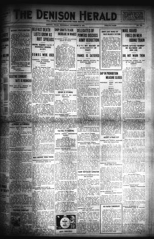 Primary view of object titled 'The Denison Herald (Denison, Tex.), No. 102, Ed. 1 Wednesday, November 23, 1921'.