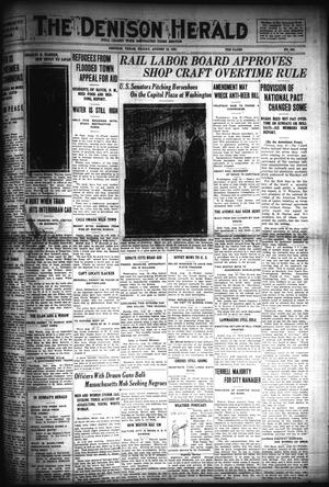 Primary view of object titled 'The Denison Herald (Denison, Tex.), No. 334, Ed. 1 Friday, August 19, 1921'.