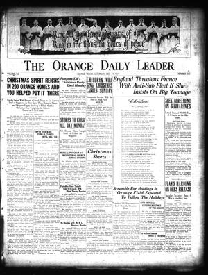 Primary view of object titled 'The Orange Daily Leader (Orange, Tex.), Vol. 12, No. 307, Ed. 1 Saturday, December 24, 1921'.