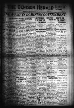Primary view of object titled 'The Denison Herald (Denison, Tex.), No. 112, Ed. 1 Tuesday, December 6, 1921'.