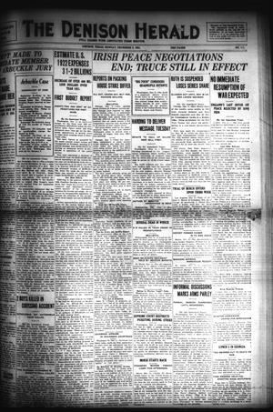 Primary view of object titled 'The Denison Herald (Denison, Tex.), No. 111, Ed. 1 Monday, December 5, 1921'.