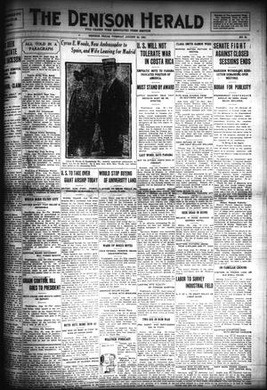 Primary view of object titled 'The Denison Herald (Denison, Tex.), No. 24, Ed. 1 Tuesday, August 23, 1921'.