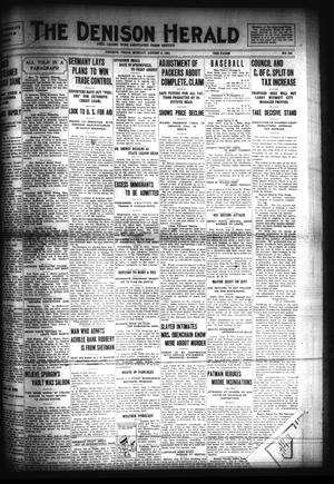 Primary view of object titled 'The Denison Herald (Denison, Tex.), No. 324, Ed. 1 Monday, August 8, 1921'.