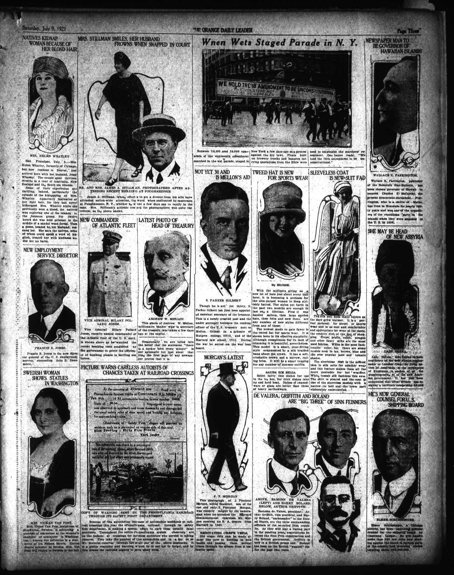 The Orange Daily Leader (Orange, Tex.), Vol. 17, No. 163, Ed. 1 Saturday, July 9, 1921                                                                                                      [Sequence #]: 3 of 6